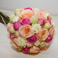 Apricot Pink Brautstrauss