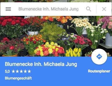 Blumenecke Google Banner
