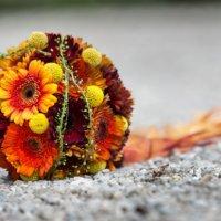 Brautstrauss Orange Rot Herbst