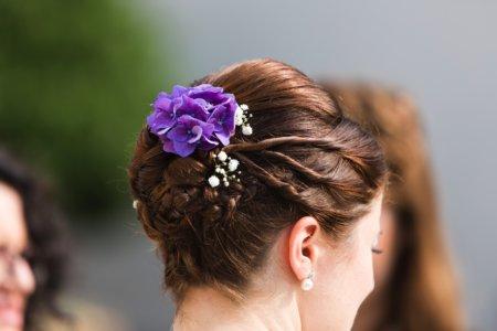 Haarschmuck Braut Violett