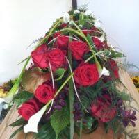 Sargdeko Rote Rosen